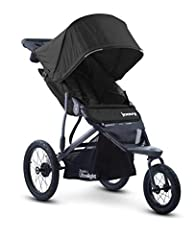 "Extra wide seat sits high to give child great visibility, multi-position seat recline Includes parent organizer, running leash, and tire pump Quick release 16"" rear wheels and 12.5"" swivel front wheel that locks straight Aluminum frame with shock abs..."