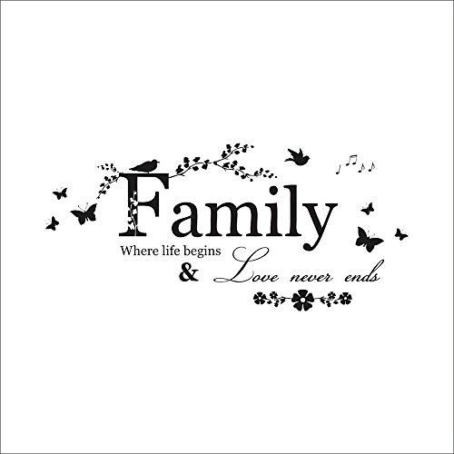 Targa Floreale da Appendere Family Where Life Begins And Love Never Ends