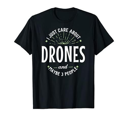 Divertida camiseta de drones para hombre, regalo del día del padre Camiseta