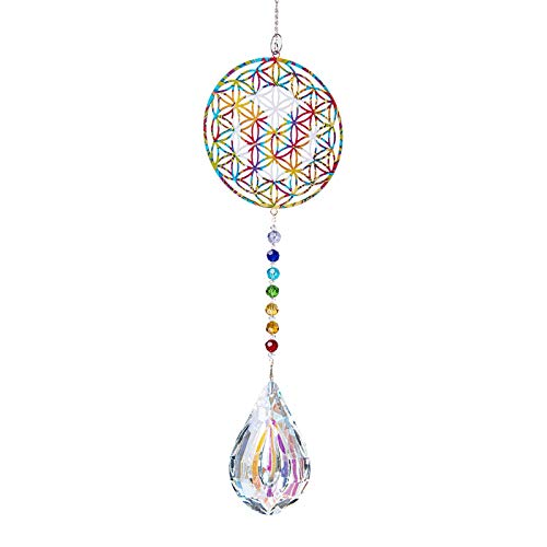 FISEYU Pendant Sparkling No Cracking Faux Crystal Drop Shape Hangings for Gift Wall Door DIY Pendant 7
