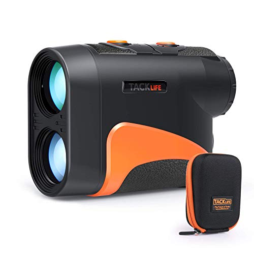 TACKLIFE Professionnel Télémètre Golf MLR04, 600m Plage de Mesure, Golf en Pente Mode, Oculaire à Focale Réglable, Verrouillage du Mât, 6X Grossissement, Précision de Distance 1m, 24mm Objectif