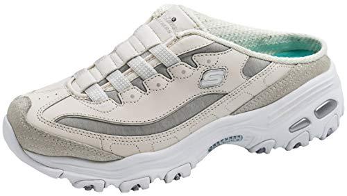 Skechers Zapatillas deportivas D'Lites sin cordones para mujer, blanco (Blanco/Vapor/Plata), 40 EU ⭐