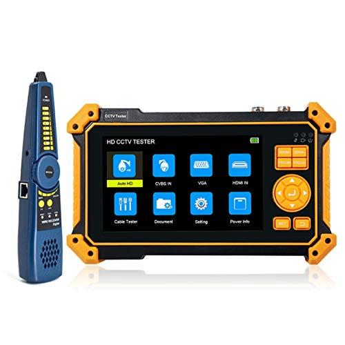 Probador de cámara CVBS CVI TVI AHD 4 en 1 de 5 pulgadas CCTV probador de cámara 8MP CVI/TVI/AHD Prueba de cámara analógica,