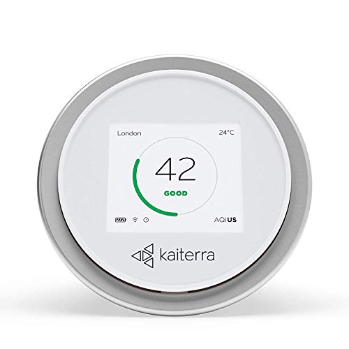 Kaiterra Laser Egg: Monitor de calidad del aire en interiores (Seguimiento de PM2.5, polvo fino, temperatura y humedad)
