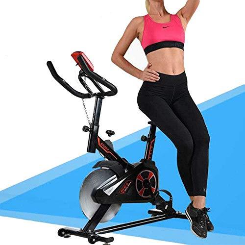 Indoor Cycling Bike Silent Belt Drive Bike met verstelbaar stuur Stoel Verchroomd vliegwiel Functie Monitor Fitness Bike en Ab Trainer Sportuitrusting Ideaal Cardio Trainer dsfhsfd(Upgrade)
