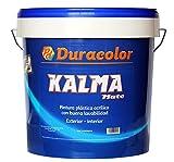Pintura Kalma Mate - Color Blanco - 1 litro - Pintura Plástica Acrílica de Textura Lisa y Acabado Mate - Aplicación Exterior e Interior - Duracolor