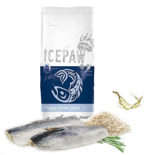 ICEPAW I High Premium Trockenfutter Puppy Junior Pure I 15 kg I Mit Fisch (Hering) und Reis I Trockenfutter für Welpen und Junghunde