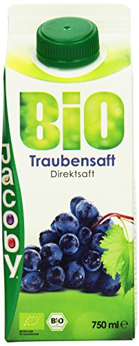 Jacoby Bio Traubensaft, 8er Pack (8 x 750 ml)
