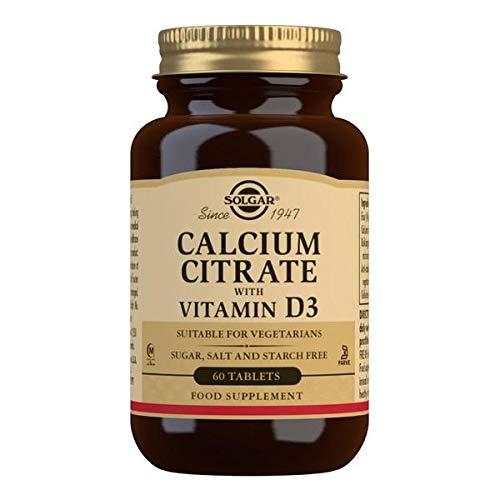 Solgar Citrato de Calcio con Vitamina D3 Comprimidos - Envase de 60