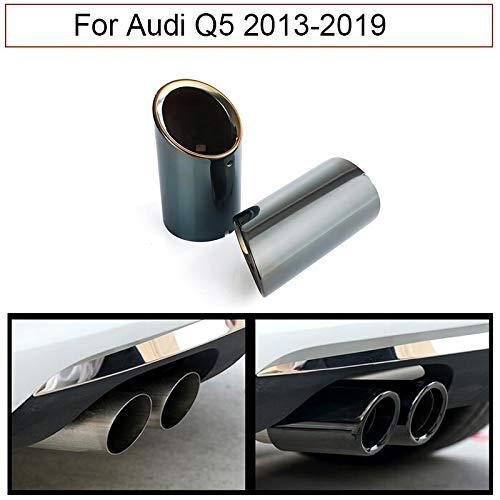 Silenciador de tubo de escape para coche, 2 unidades, color negro cromado Para Q5 2013-2019