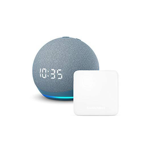 【セット買い】Echo Dot (第4世代) 時計付き トワイライトブルー + スイッチボット Hub Mini スマートリモコン
