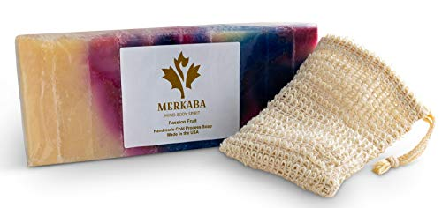 Merkaba Lavender Patchouli Cold Process Soap – Luxury Handmade Natural Bar Soap, Face and Body, Organic Shea Butter…