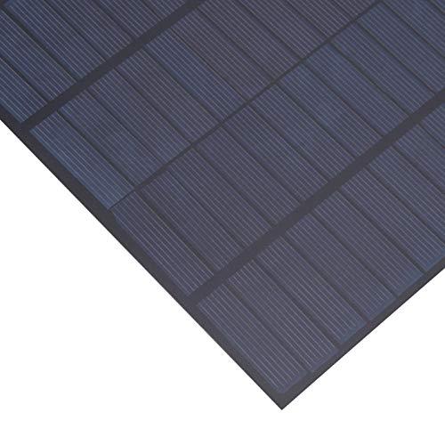 minifinker Panel Solar de Bricolaje, 165x220mm Panel Solar de Bricolaje con batería de 5W para Cargar