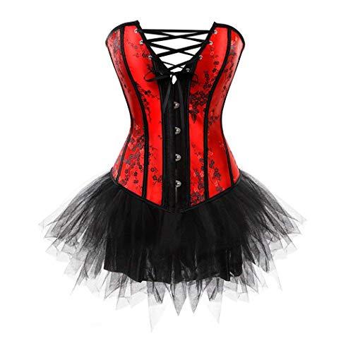 Crystallly Corsage Party vrouwen corset top bustier met minirok tutu eenvoudige stijl voor moulin rood showgirl clubwear mode vintage drager cross body shaping shaper shapewear