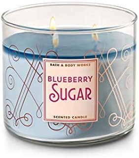 Bath and Body Works White Barn Blueberry Sugar Scented 3 Wick Candle for 2017 14.5 Ounce