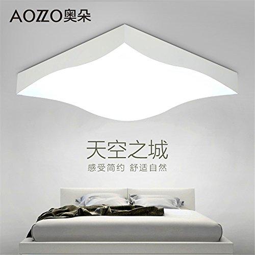 BRIGHTLLT Lampe de plafond Led lampe de salon lampe de chambre Lampe nordique simple et moderne, 500 * 500 * 106
