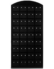 MYA - 1 soporte para expositor de 72 agujeros de plástico para pendientes, pendientes y pendientes