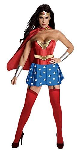 EVRYLON Disfraz de Mujer Maravilla - Chica Vestida de Carnaval Sexy Talla XXL Super Woman Cosplay