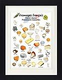 1art1 Käse - Französische Käsesorten Gerahmtes Poster