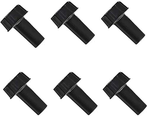 6 Pack On/Off Replacement Light Lamp Turn Switch Knobs, Black
