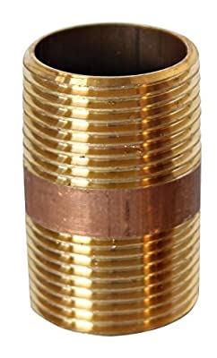 """Eastman Lead Free 1"""" Male NPT MPT MIP Close Nipple Brass Pipe Fitting Fuel / Air / Water / Boat / Gas / Oil WOG"""