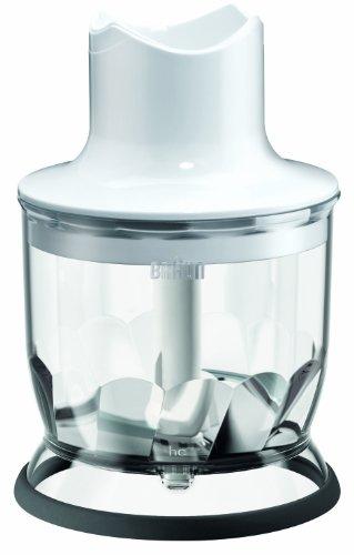 Braun Zerkleinerer Aufsatz MQ 20 - Stabmixer Zubehör kompatibel mit Braun MultiQuick Stabmixer mit EasyClick System, 350 ml, weiß