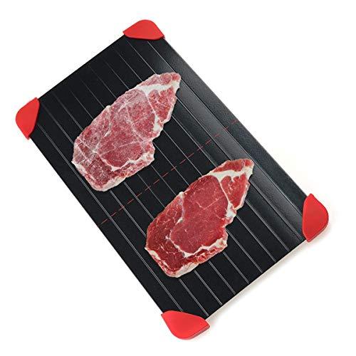 Auftautablett für Tiefkühlkost - 3 mm Dicke Auftauteller Fleisch/Tiefkühlkost schnell auftauen | ohne Strom Mikrowelle heißes Wasser