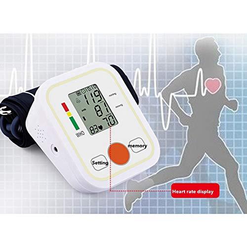 WXCCK Monitor Automático De Presión Arterial En La Parte Superior del Brazo para Uso En El Hogar, Pantalla LCD Grande Digital con Brazalete De Rango Amplio, 2 Memorias De Usuario (Batería Incl