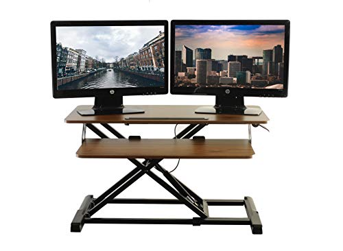 TechOrbits Standing Desk - Stand Up Desk Converter and Monitor Riser