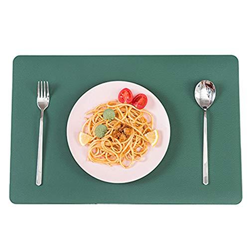Mantel individual de cuero, tapete de mesa, impermeable, a prueba de aceite, antiquemaduras, plato, alfombra de taza, alfombrilla de taza de té