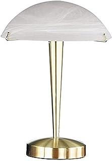 TRIO, Lampe de table, Henk 1xE14, max.60,0 W Verre mat, Blanc balayé, Corps: metal, Laiton mat Ø:26,0cm, H:38,0cm IP20,Int...