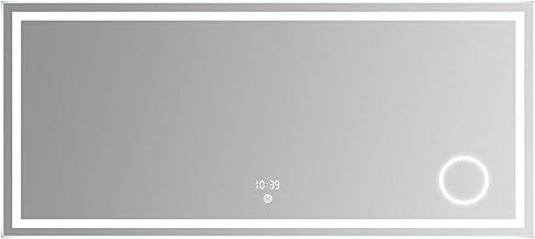 GRJ Household Items& Wall Mirror com luzes, ampliação 3x retangular Touch Hanging Espelho Simples e elegante para hotéis d...