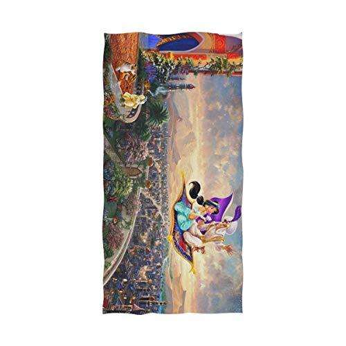 chillChur-DD Bath Towel Aladdin and The Magic Lamp Asciugamano da spiaggia Asciugamano da viaggio ad asciugatura rapida Asciugamano da bagno Asciugamano da doccia - Assorbimento d'acqua