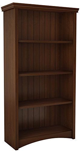 South Shore 4-Shelf Storage Bookcase, Sumptuous Cherry