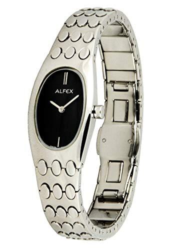 Alfex Reloj de pulsera analógico para mujer con mecanismo de cuarzo con acero inoxidable Pulsera 5475