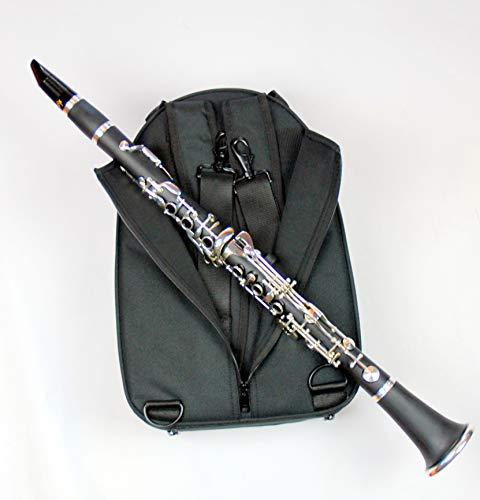 Tuyama® TKD-272 Klarinette in B - Deutsches Griffsystem (Ebonit) + Koffer mit Rucksackfuntion + Schreiber W5A-Mundstück + Zubehör