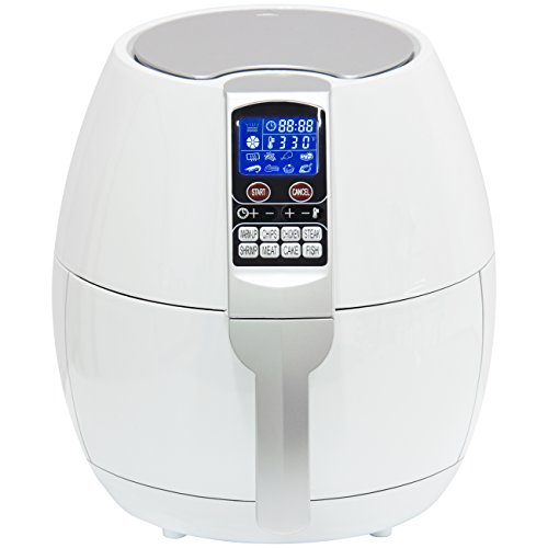 Best Choice Products 3.7qt Non-stick Electric Air Fryer Cooking Appliance for Home, Kitchen w/ 8 Cooking Presets, Temperature Control, Timer, Digital LED Screen Display - White