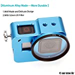 """Gurmoir Case Aluminum Alloy Back Door Housing Frame for Gopro Hero 8 Black Action Camera, Wire connectable Protective… 9 This Aluminum Housing Designed for Gopro Hero 5/Gopro HERO (2018) Action Camera, Blue Make Your Gopro More Unique Your Gopro camera will be more safety during high-velocity sport or daily using. No more worries about the camera will falling out. you can just enjoy your shooting time with 1/4 inch screw hole. the case can compatible with any 1/4"""" tripod. or you can DIY your kit. Sides open allow quick connect of cables. with the Cold Shoe, you can mount a flash, video light, microphone on the top of this case"""