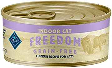 Blue Buffalo Freedom Grain Free Natural Adult Indoor Wet Cat Food Pate & Flaked