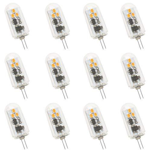 Jenyolon G4 LED Lampen 3W DC 12-24V, Warmweiß 3000K, 300Lm, Ersatz für 30W Halogenlampen Glühlampen, LED G4 klein Stiftsockellampe Leuchtmittel Birne Licht, 360°Abstrahlwinkel, 12er Pack