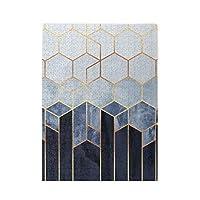 500ピース ジグソーパズル 青い六角形 パズル 木製パズル 動物 風景 絵 ピクチュアパズル Puzzle 52.2x38.5cm
