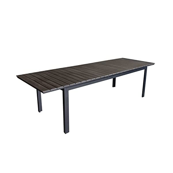 Multistore 2002 9tlg. Gartenmöbel Set Gartengarnitur Aluminium Polywood Ausziehtisch Gartentisch 280/220x95cm + 8X…