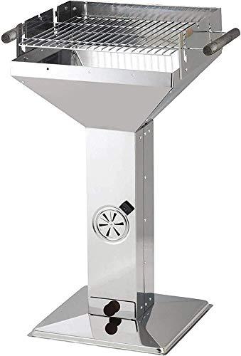 JXH - Griglia a colonna in acciaio inox, per barbecue, portatile, per esterni, per barbecue