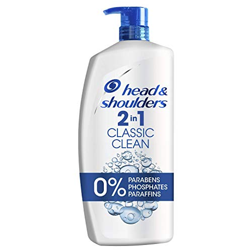 Head & Shoulders 1000 ml Classic Clean Anti-Dandruff 2-in-1 Shampoo and Conditioner, Clinically Proven Deep Clean, Uk #1