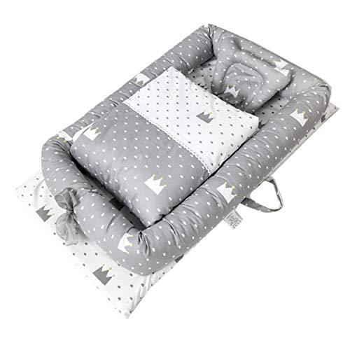 Cuna de Viaje de Bebé Recién Nacido Bebé nido Cocoon Para Cuna - Capullo Para Ropa de Cama Nido de Peluche 0-24 Meses Saco de Dormir de Seguridad