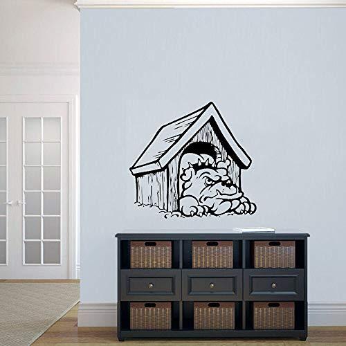 wopiaol Calcomanía de Pared de Dibujos Animados Perro en su casa Decoración de diseño para el hogar para niños Niños Dormitorio Sala de Estar Vivero Puerta Ventana Pegatinas de Vinilo