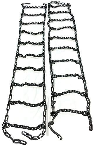 Set of 2 Skid Steer Uni-Loader Tire Chains Fit's 10-16.5 Heavy Duty Snow