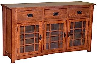 Mission Style Solid Oak TV Stand/Craftsman Style Oak Sideboard