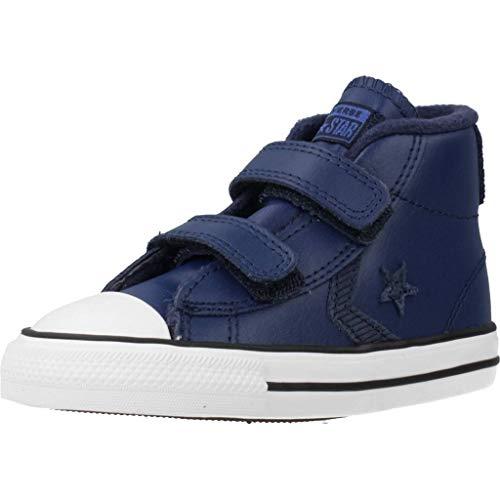 Converse Star Player 2V Asteroid Leather HI Sneaker Kind Blau - 22 - Sneaker High