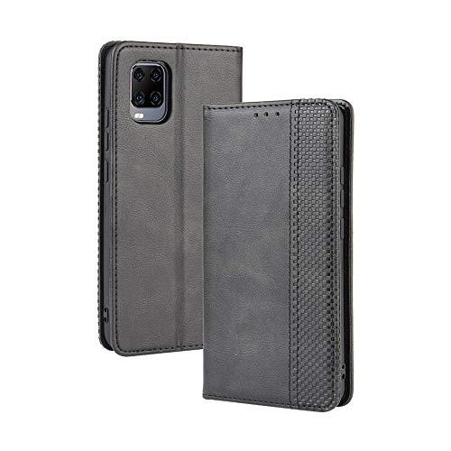 LAGUI Kompatible für ZTE Axon 11 5G Hülle, Leder Flip Hülle Schutzhülle für Handy mit Kartenfach Stand & Magnet Funktion als Brieftasche, schwarz